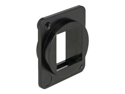 DeLOCK Keystone Mounting 1 Port for D-type - Zásuvka - černá - 1 souprava - 1 port