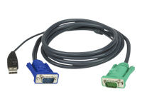 ATEN Micro-Lite 2L-5203U - câble clavier / vidéo / souris (KVM) - 3 m