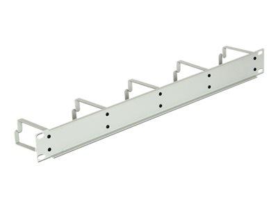 DeLOCK - Panel pro uspořádání kabelů - světle šedá, RAL 7035 - 1U - 19