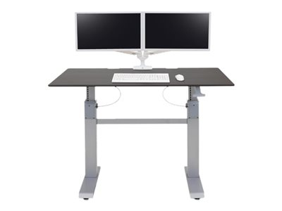 Ergotron WorkFit-DL - Stůl k sezení/stání - mobilní - kancelář - hranatý - wenge