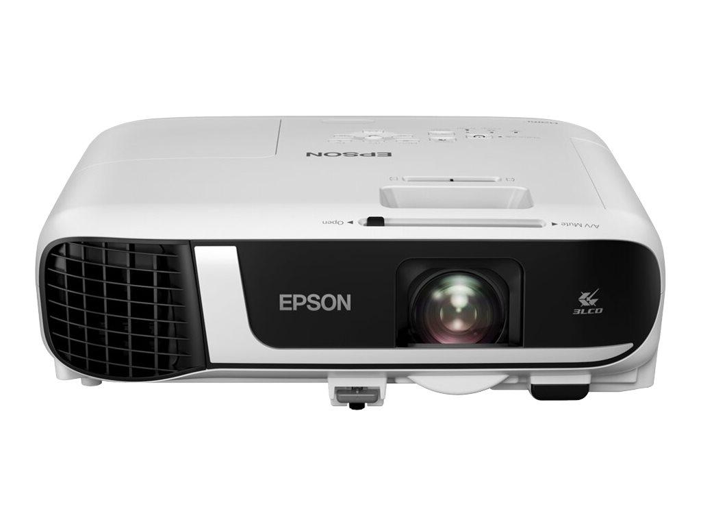 Image de Epson EB-X49 - Projecteur 3LCD - portable - 3600 lumens (blanc) - 3600 lumens (couleur) - XGA (1024 x 768) - 4:3 - LAN - blanc
