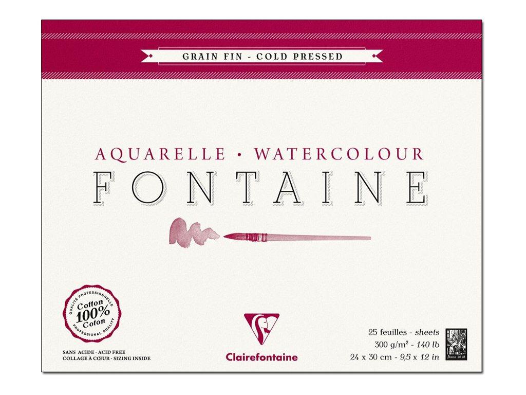 Clairefontaine Fontaine - Bloc à dessins - 24 x 30 cm - 25 feuilles - blanc