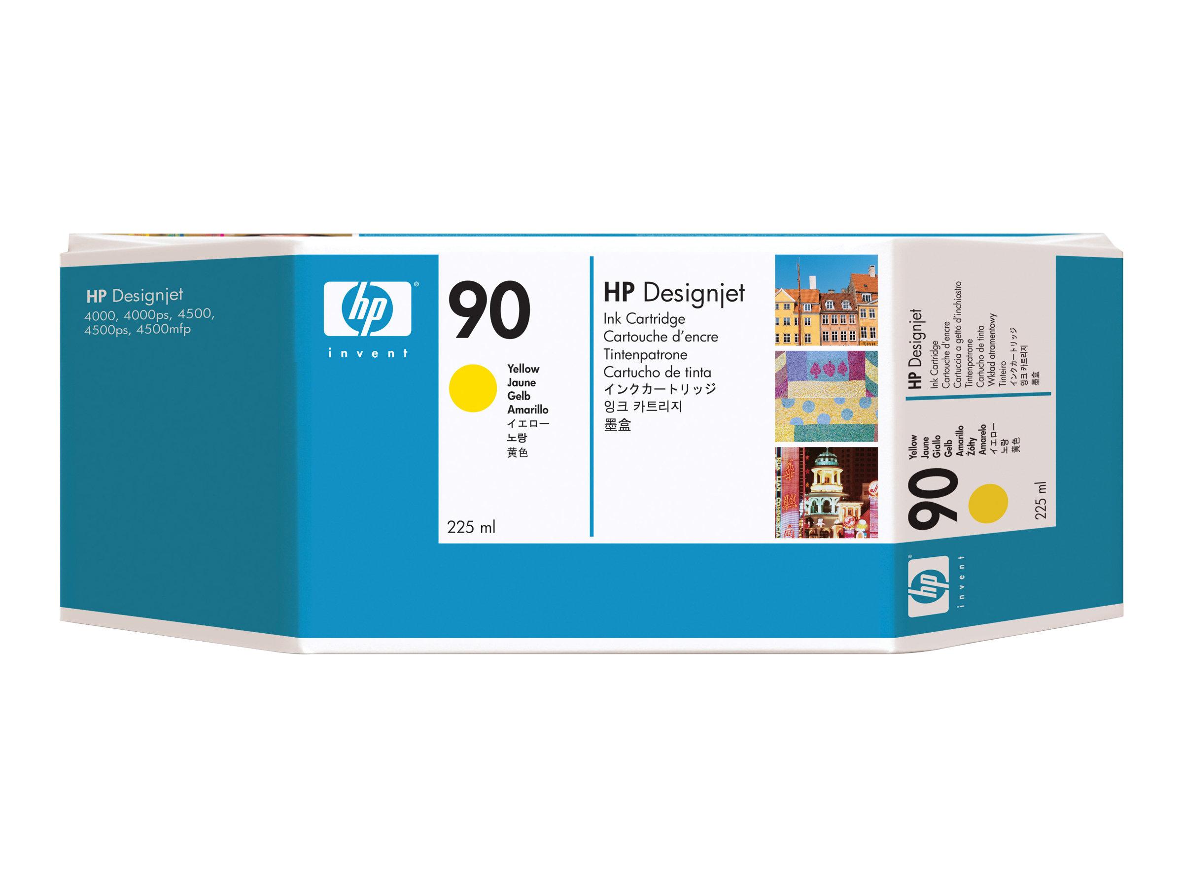 HP 90 - 225 ml - jaune - originale - cartouche d'encre
