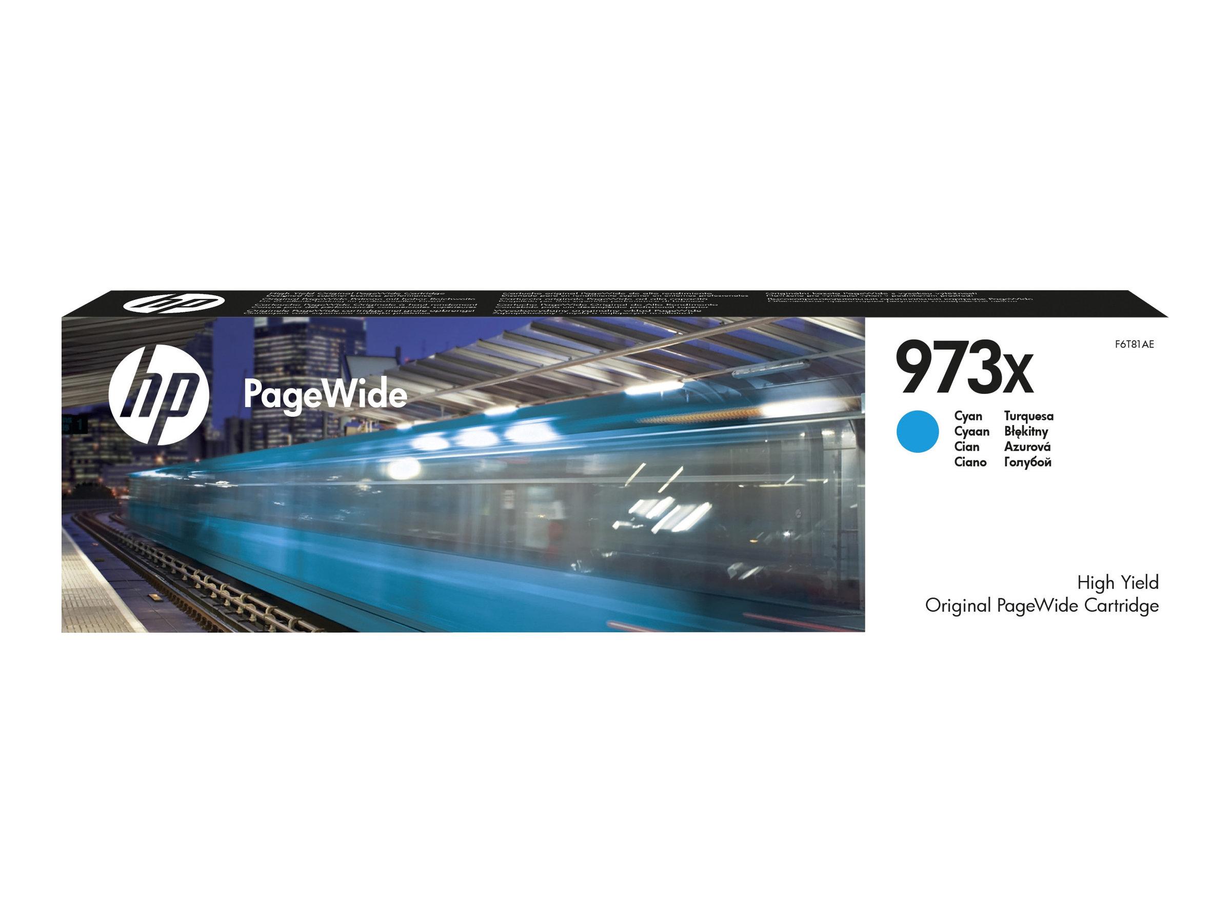 HP 973X - à rendement élevé - cyan - originale - PageWide - cartouche d'encre