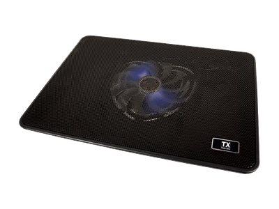 TX CP4 - support d'ordinateur portable avec concentrateur USB 1 port et ventilateur de refroidissement