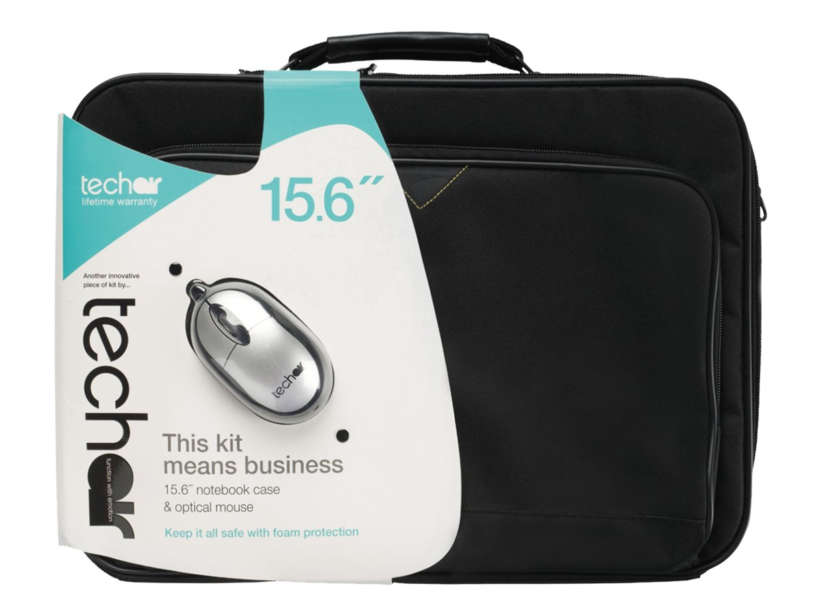 TECHAIR 15.6 LAPTOP BAG WITH WIRED MOUSE - PAQUETE
