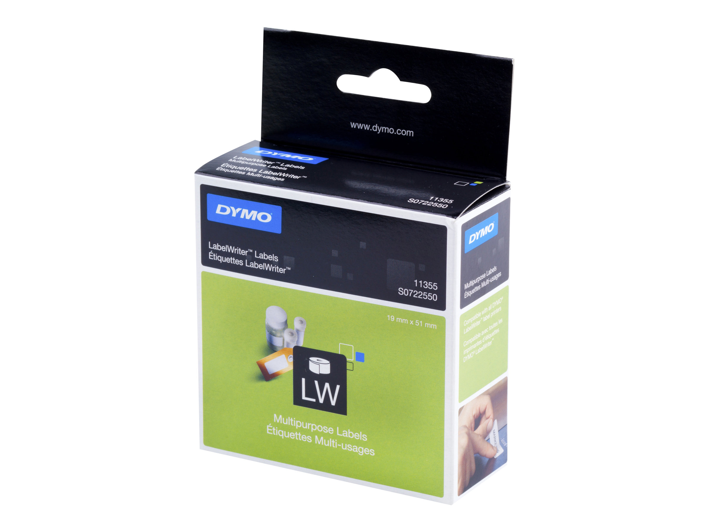 DYMO LabelWriter MultiPurpose - étiquettes multi-emploi - 500 étiquette(s)