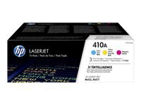 HP 410A - 3-pack - yellow, cyan, magenta - original - LaserJet - toner cartridge (CF251AM) - for Color LaserJet Pro M452dn, M452dw, M452nw, MFP M477fdn, MFP M477fdw, MFP M477fnw