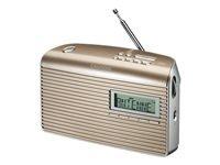 Grundig Music 7000 DAB+ DAB bærbar radio champagne sølv