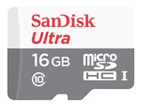 SanDisk Ultra - Flash memory card (microSDHC to SD adapter included) - 16 GB