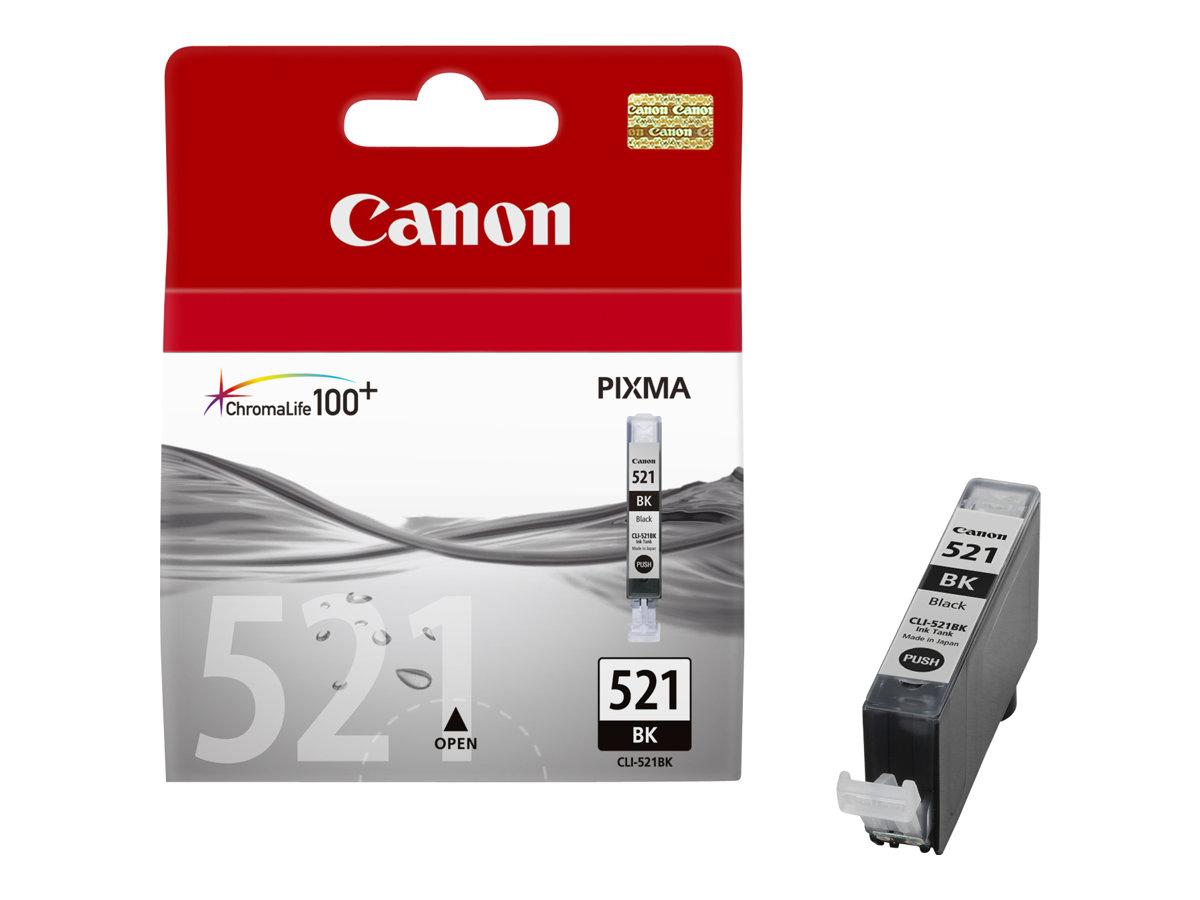 Canon CLI-521BK - photo noire - originale - réservoir d'encre
