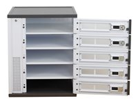 Ergotron Charging Locker - Cabinet unit for 15 notebooks / tablets - lockable - 14 gauge steel - white - screen size: up to 15.5""