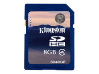 Kingston Mémoires Secure Digital SD4/8GB
