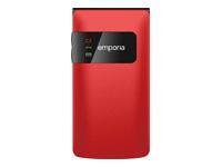 emporiaFLIPbasic Mobiltelefon GSM 176 x 220 pixels TFT rød