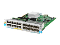 HPE - Expansion module - Gigabit Ethernet (PoE+) x 12 + Gigabit SFP x 12 - for HPE Aruba 5406R, 5406R 16, 5406R 44, 5406R 8-port, 5406R zl2, 5412R, 5412R 92, 5412R zl2
