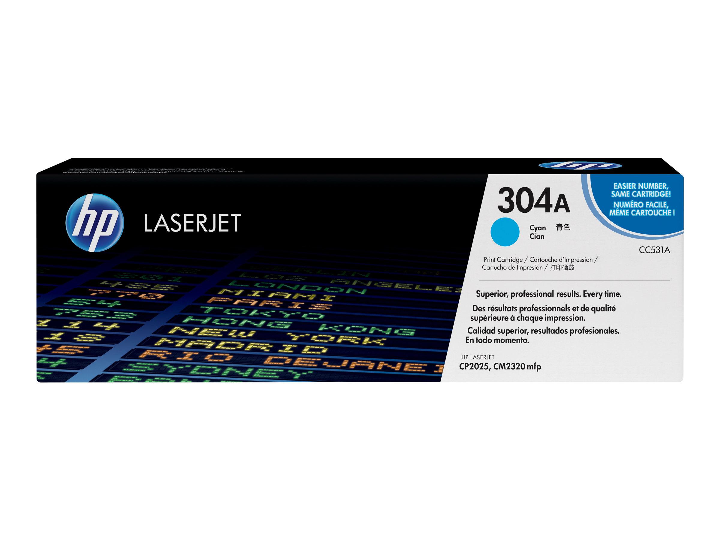HP 304A - cyan - original - LaserJet - cartouche de toner ( CC531A )