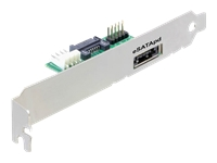 DeLOCK Slotbracket eSATApD Kabelsæt til lagring