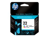HP - INKJET SUPPLY HIGH VOLUME Cartucoh de tinta (nº22) Cian, magenta y amarillo (5ml)C9352AE#ABE
