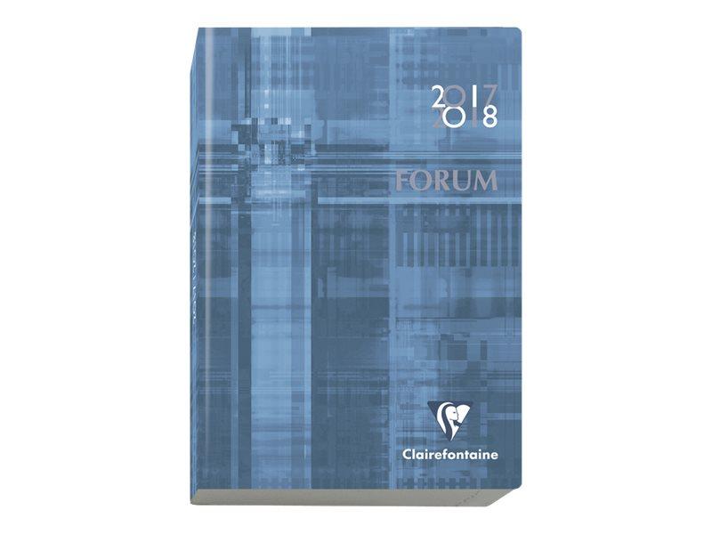 Clairefontaine Forum Metric - Agenda - 2017-2018 - 1 jour par page - 12 x 70 cm - couvertures aux couleurs assorties