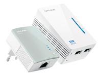 TP-LINK TL-WPA4220KIT AV500 2-Port Wifi Powerline Adapter Starter Kit - pont - 802.11b/g/n - Branchement mural
