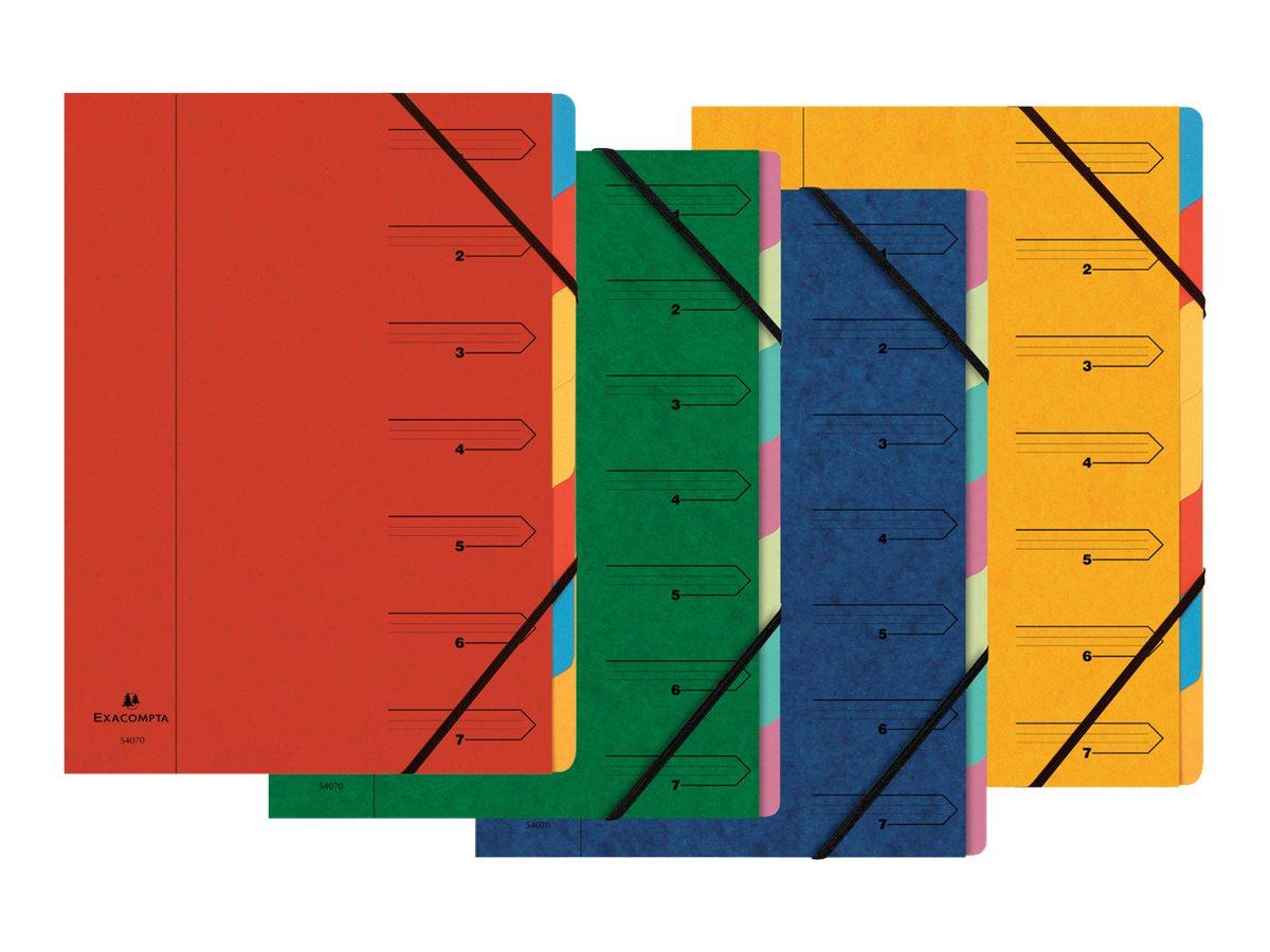 Exacompta Nature Future - Parapheur - 7 pochettes - A4 - couleurs tachetées assorties