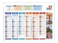 CBG 4 Saisons Médium - Calendrier de banque 2017 - 6 mois par face - 320 x 420 mm
