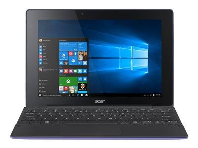 "Acer Aspire Switch 10 E SW3-016-18Y6 - Tablet - with keyboard dock - Atom x5 Z8300 / 1.44 GHz - Win 10 Home 64-bit - 2 GB RAM - 64 GB eMMC - 10.1"" IPS touchscreen 1280 x 800 - HD Graphics - black, purple"