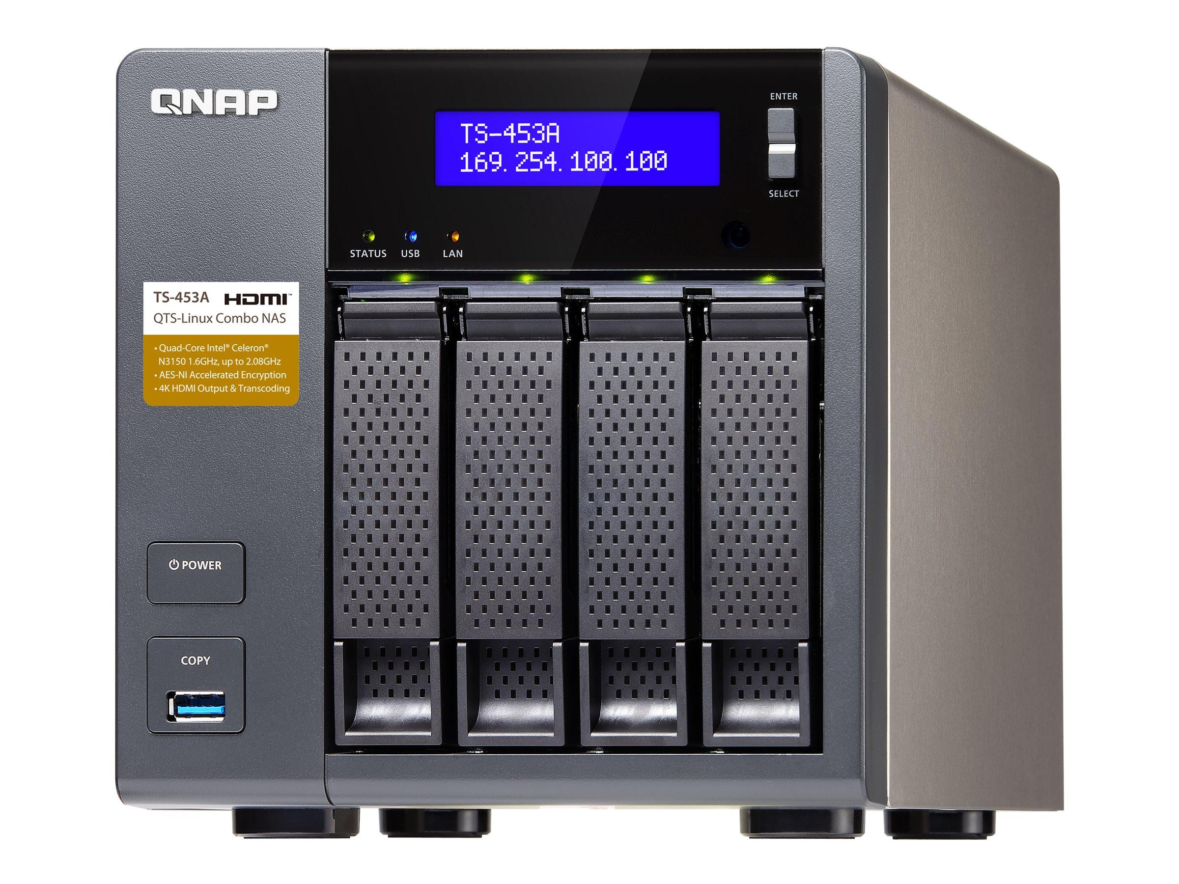 QNAP TS 453A SERVIDOR NAS 4 COMPARTIMENTOS SATA 6G