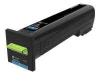 Lexmark - Extra High Yield - cyan - original - toner cartridge LCCP - for Lexmark CS820de, CS820dte, CS820dtfe