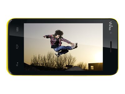Wiko Sunset - jaune - 3G HSPA+ - 4 Go - GSM - smartphone Android