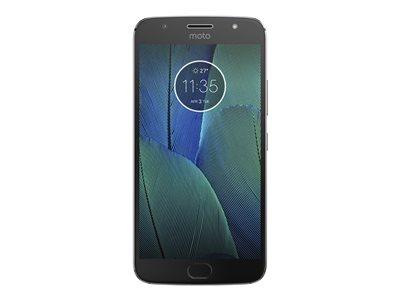 "Motorola Moto G5S Plus - XT1806 - smartphone - 4G LTE - 32 GB - microSDXC slot - CDMA / GSM - 5.5"" - 1920 x 1080 pixels (401 ppi) - IPS - RAM 3 GB - 13 MP (8 MP front camera) - Android - lunar gray"