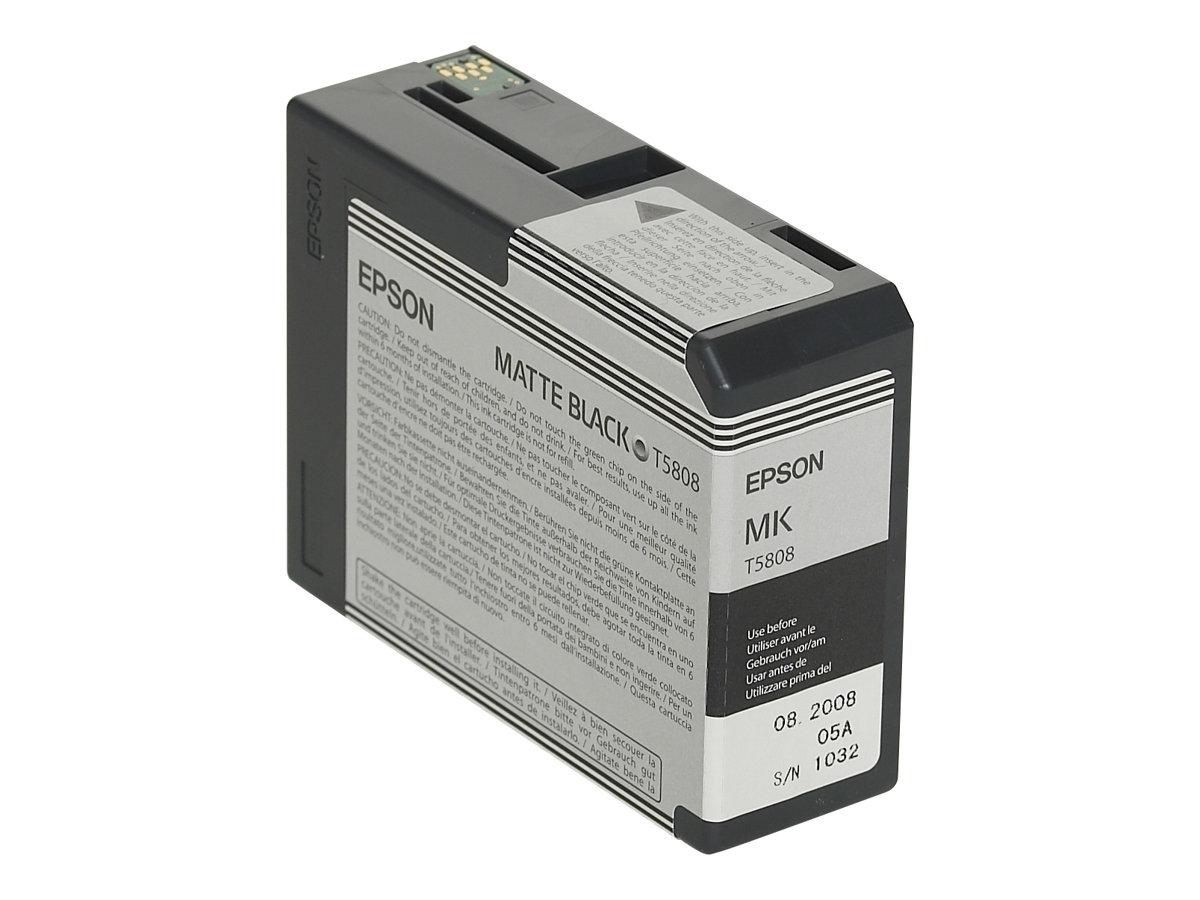 Epson T5808 - noir mat - original - cartouche d'encre
