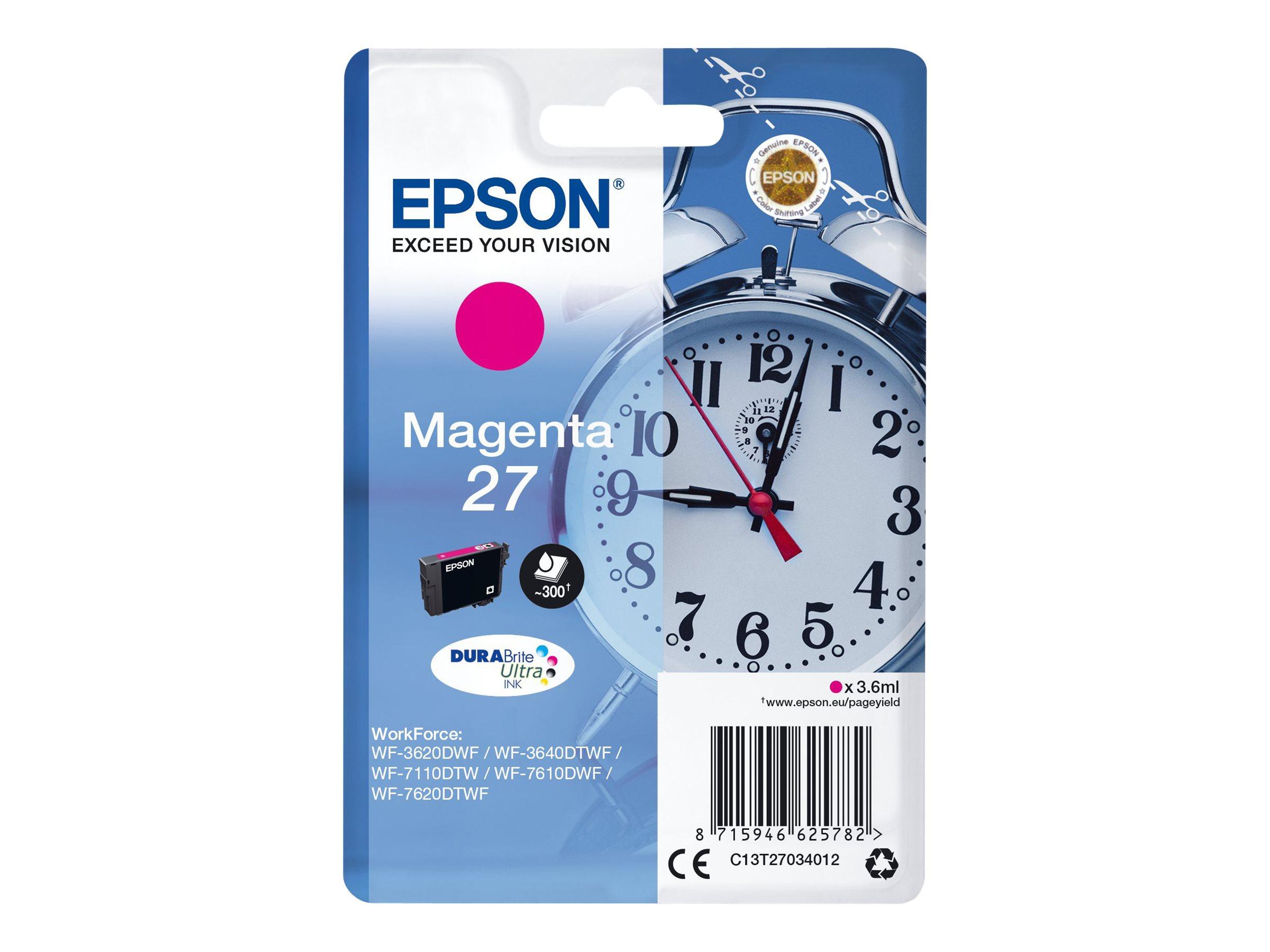 Epson T27 - réveil - magenta - originale - cartouche d'encre