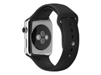 Apple 42mm Sport Band Urrem sort for Watch (42 mm)