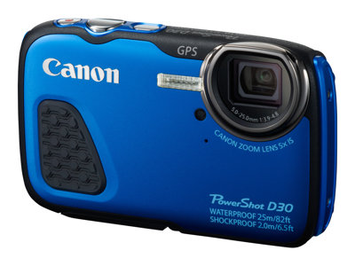 Canon PowerShot D30 Digital Camera Blue