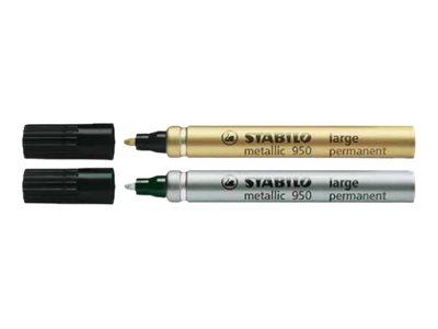 Stabilo Metallic 950 - Marqueur permanent - disponible en or ou argent