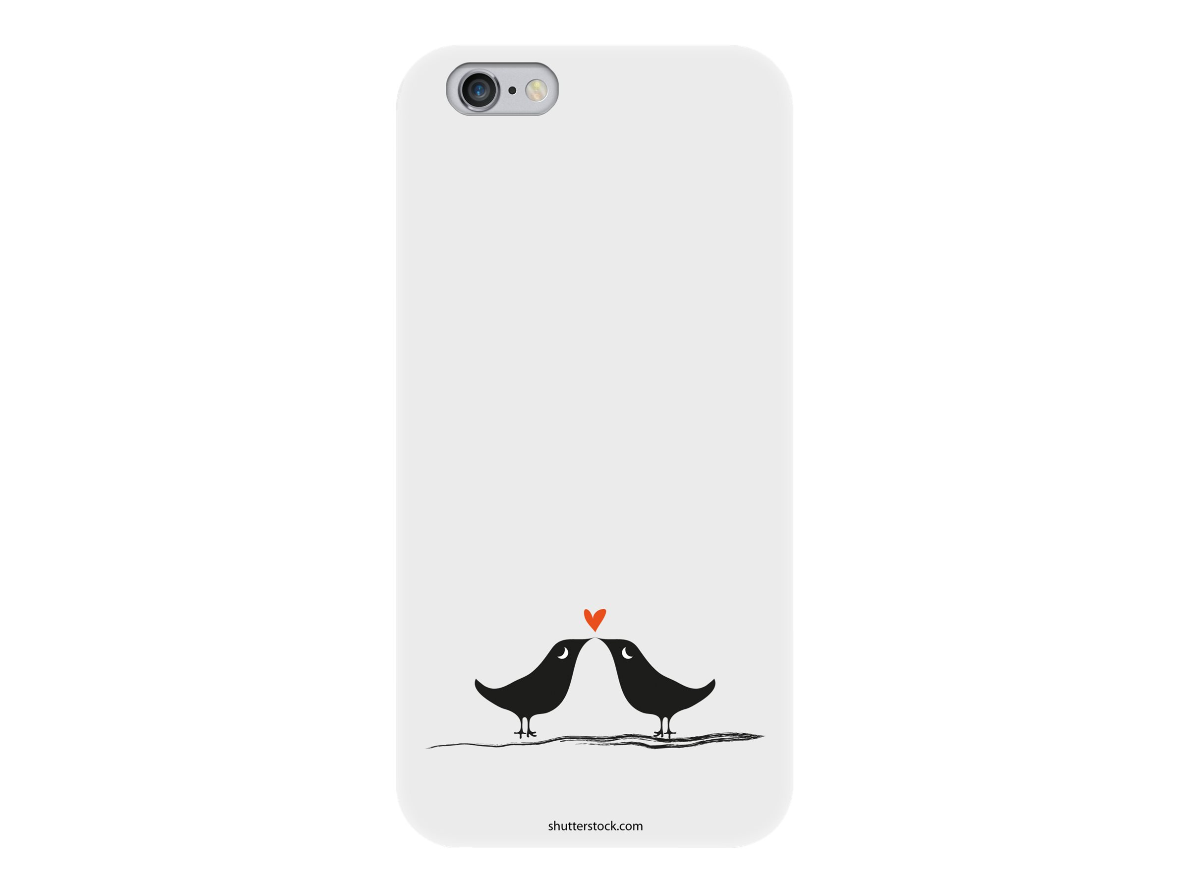 Muvit love birds - Coque de protection pour iPhone 6 - noir, blanc