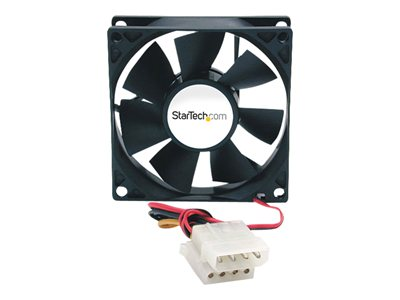 startech.com 80x25mm ever lubricate bearing pc computer case fan w/ lp