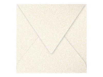 Pollen - Enveloppe - 165 x 165 mm - crème irisé - pack de 20