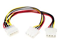 StarTech.com LP4 to 2x LP4 Power Y Splitter Cable