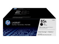 HP 85A - Paquete de 2 - negro