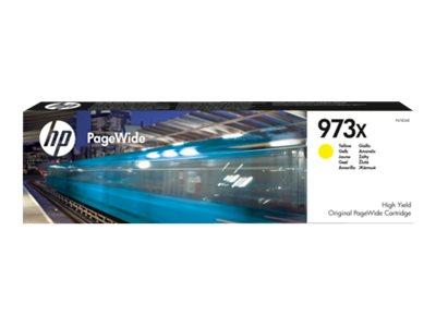 HP 973X - à rendement élevé - jaune - originale - PageWide - cartouche d'encre