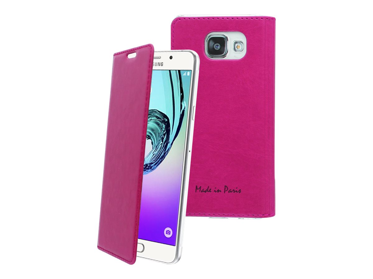 Muvit Made in Paris Crystal Folio Luxe - Protection à rabat pour Samsung Galaxy A5 - Fuchsia