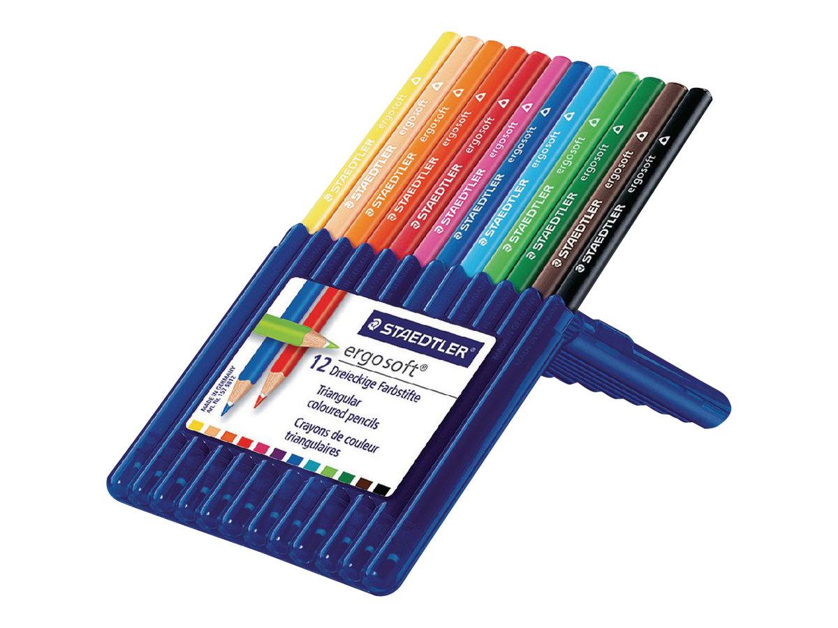 staedtler ergosoft crayons de couleurs couleurs assorties disponible par 12 ou par 24. Black Bedroom Furniture Sets. Home Design Ideas