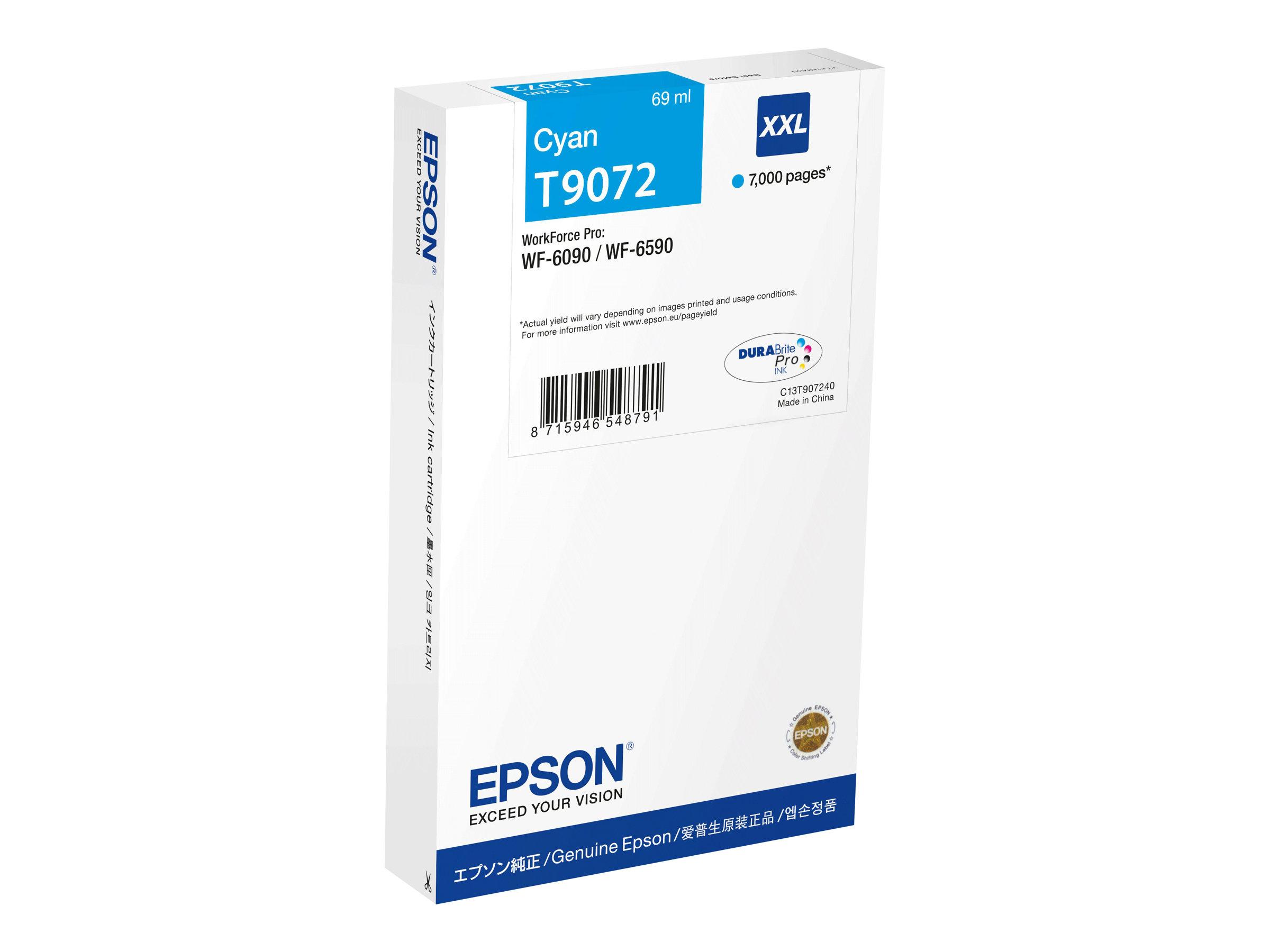 Epson T9072 - taille XXL - cyan - originale - cartouche d'encre