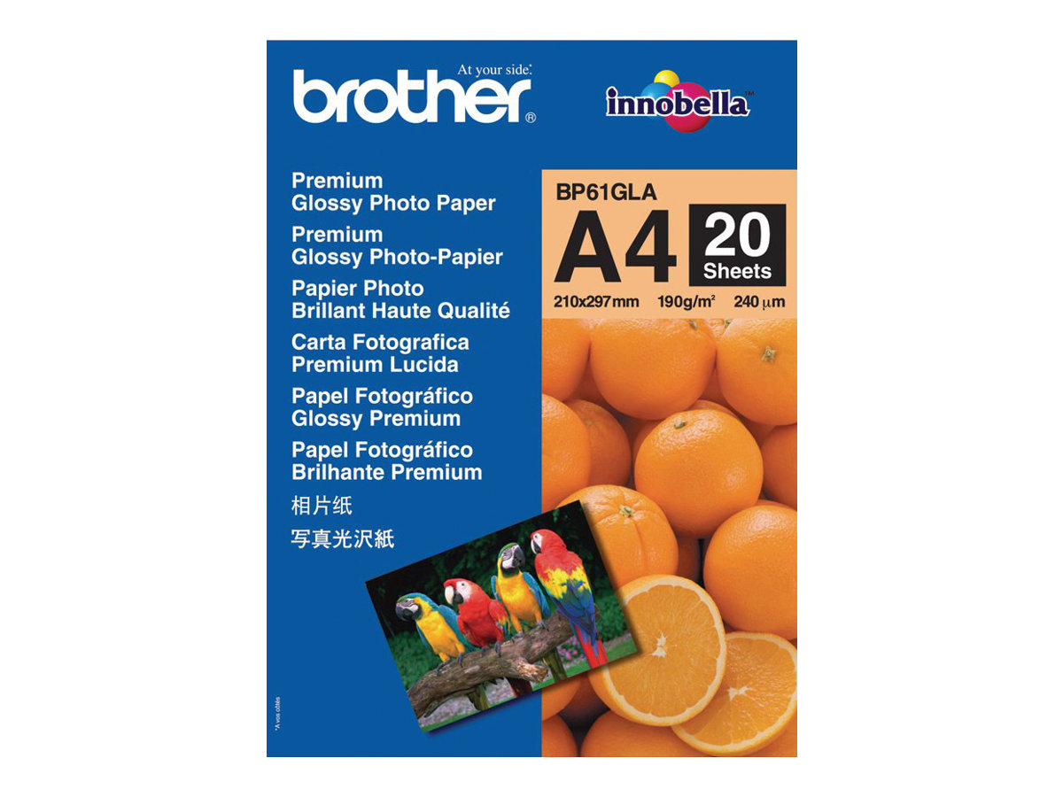 Brother BP 61GLA Premium Glossy Photo Paper - papier photo - 20 feuille(s)