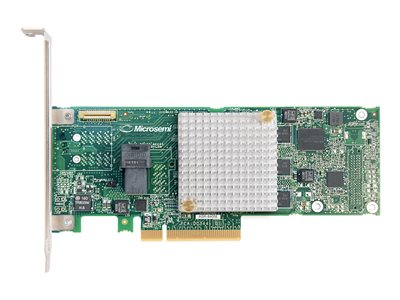 Microsemi Adaptec RAID 8405E - Řadič úložiště (RAID) - 4 Kanál - SAS 12Gb/s nízký profil - 1200 MBps - RAID 0, 1, 10 - PCIe 3.0 x8