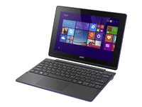 "Acer Aspire Switch 10 E SW3-016-10LF - Tablet - with keyboard dock - Atom x5 Z8300 / 1.44 GHz - Win 10 Home 64-bit - 2 GB RAM - 64 GB eMMC - 10.1"" IPS touchscreen 1280 x 800 - HD Graphics - black, purple"