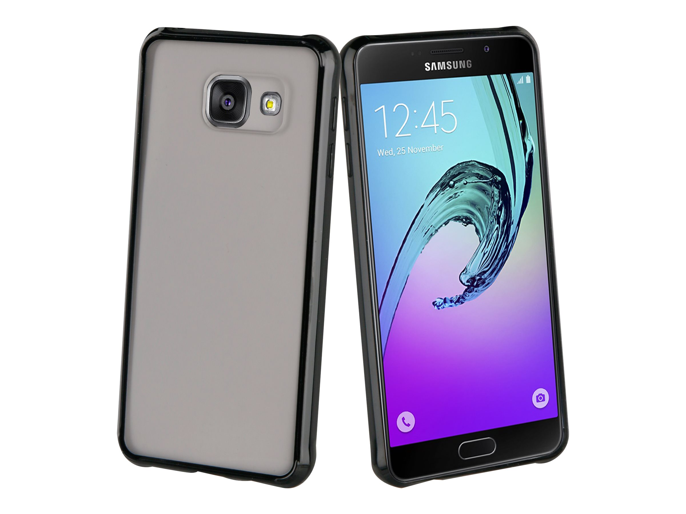 Muvit Crystal Bump - Coque de protection pour Samsung Galaxy A5 - noir, transparent