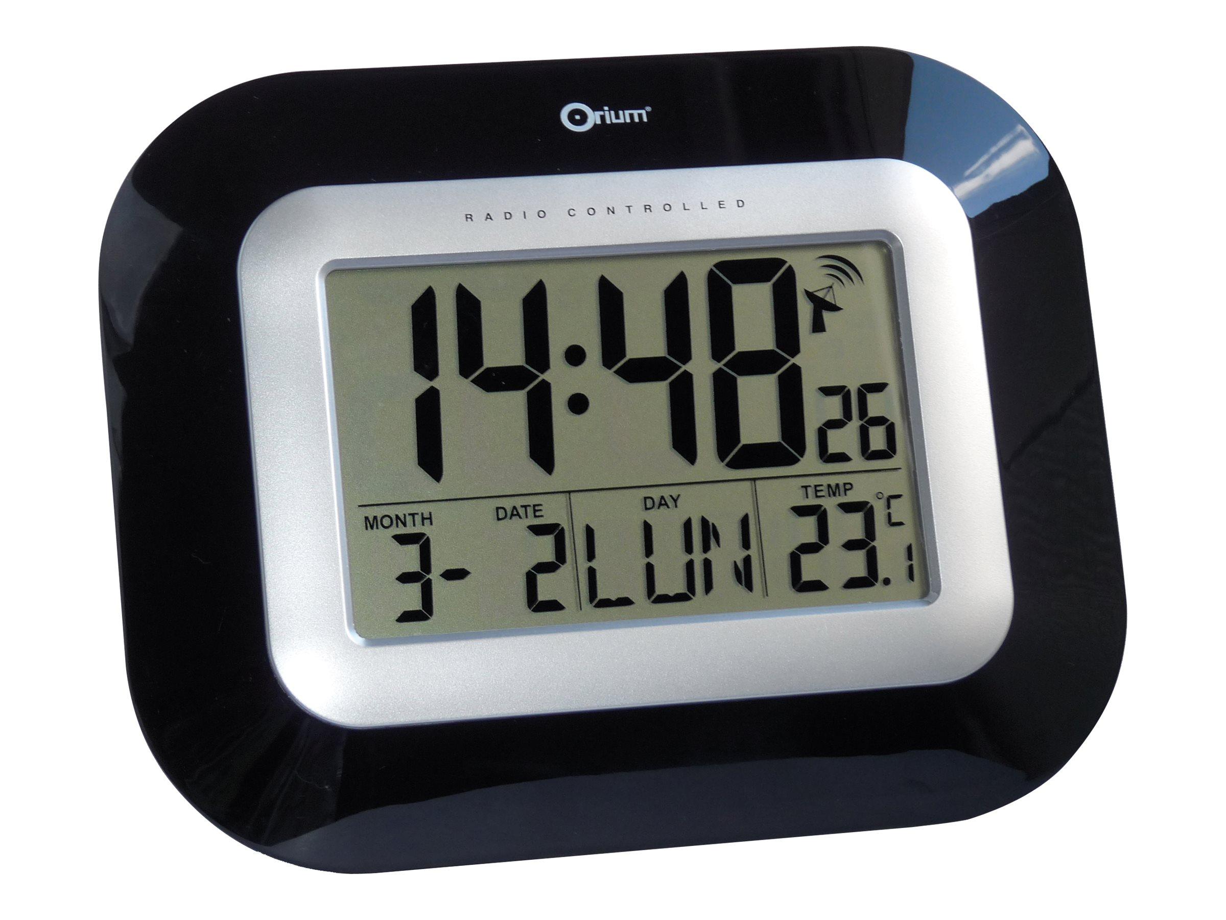 Orium - Horloge - électronique - noir laqué